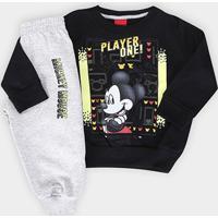 Conjunto Infantil Cativa Disney Mickey Player One Masculino - Masculino