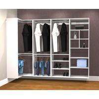Conjunto Completo Para Closet 42 Branco - Getama Moveis