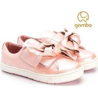 Tênis Infantil Gambo Slip On Glitter Blossom Feminino - Feminino-Rosa