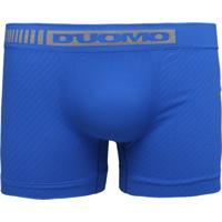 Cueca Duomo Boxer Sem Costura Azul
