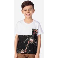 Camiseta Meio A Meio Algodão Niños 500015
