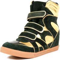 Tênis Sneaker Qix Higher Preto E Dourado