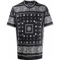 Dolce & Gabbana Camiseta Bandana Com Estampa De Coroas - Preto