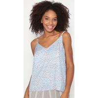 Blusa Floral- Azul Claro & Off White - Dzarmhering