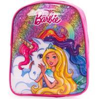 Mini Mochila Barbie 5L Feminina - Feminino-Pink