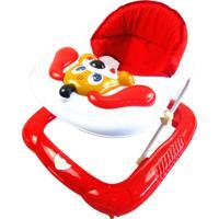 Andador Bebê Infantil Musical Recreativo Baby Style Cachorro Vermelho - Tricae