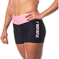 Short Fitness Feminino Rock Fit Preto E Rosa