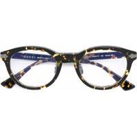 Gucci Eyewear Óculos De Grau Oval - Marrom