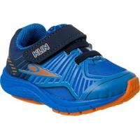 Tênis Infantil Klin Mini Genesis Velcro Masculino - Masculino-Azul Royal+Laranja