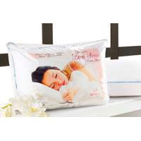 Travesseiro Anti Acaro, Anti Alergico E Lavavel Em Fibra Siliconada - Travesseiro Bom Sono - Aquarela - Kanui