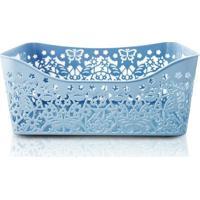 Cesto Organizador Jacki Design De Polipropileno - Unissex-Azul
