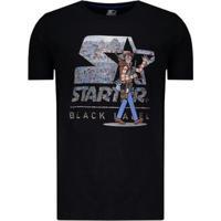 Camiseta Starter Wally Travels Masculina - Masculino-Preto