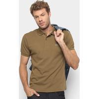 Camisa Polo Lacoste Original Fit Masculina - Masculino-Marrom