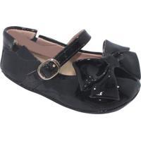 Sapato Boneca Com Laã§O & Fivela - Preto- Luluzinhaluluzinha