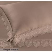 Fronha Cristal Florence- Marrom- 70X50Cm- 300 Fibuettner