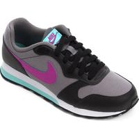 Tênis Infantil Nike Md Runner 2 Gs - Masculino-Lilás+Preto