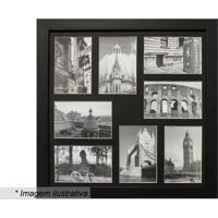 Painel Para 8 Fotos- Preto- 45X45X2Cm- Kaposkapos