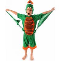 Fantasia Infantil Dragão Verde Roupa Brinquedo Lé Com Cré