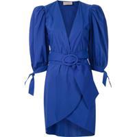 Adriana Degreas Vestido Curto Com Fivela - Azul