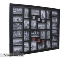 Painel Para 28 Fotos- Preto- 74X94X3Cm- Kaposkapos