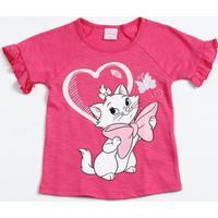 Blusa Infantil Glitter Marie Disney