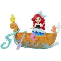 Mini Boneca E Barquinho - Disney Princesas - Little Kingdom - Barco Dos Sonhos Da Ariel - Hasbro - Feminino