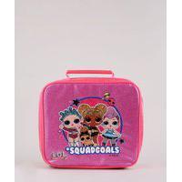 Lancheira Térmica Escolar Infantil Lol Surprise Com Brilho Pink