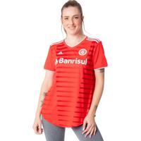 Camisa Feminina Internacional Oficial 1 20/21 Vermelho/Branco - P