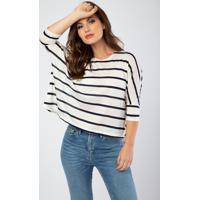 Blusa Quadrada Listra Listras - Multicolorido - Feminino - Dafiti