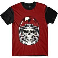 9e60c0fc2b ... Camiseta Bsc Caveira De Capacete Futebol Americano Masculina - Masculino -Vermelho
