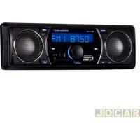 Auto Rádio Mp3 Player - Roadstar - Rádio Fm/Sd/Usb Com Alto Falante - Cada (Unidade) - Rs-2710Br