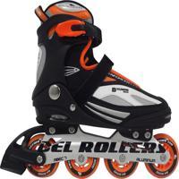 Patins Rollers Bxtreme Inline Laranja 43 Bel Sports