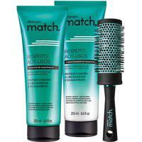 Combo Respeito Aos Lisos: Shampoo + Condicionador + Escova Para Modelar E Alisar