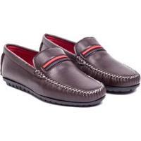 Mocassim Sapato Confort Dmt Masculino - Masculino-Marrom