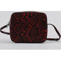 878d2c2ca CEA; Bolsa Feminina Transversal Pequena Estampada Animal Print Vermelha -  Único