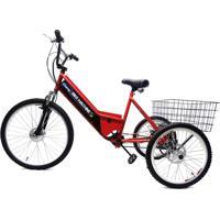 Triciclo Elétrico Basic Machine Motors 350W 36V Vermelho/Preto