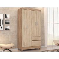 Guarda-Roupa Compacto Com 4 Portas Lotus Nogal/Vanilla- Lc Móveis