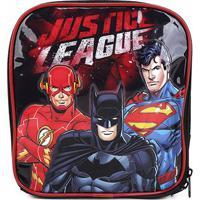 Lancheira Xeryus Liga Da Justiça - Masculino-Preto