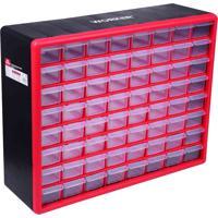 Caixa Organizador Worker Plástico 64 Gavetas