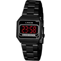 Relógio Lince Classico Feminino - Feminino-Preto