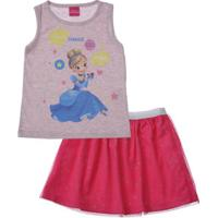 Conjunto Infantil Cinderela Disney