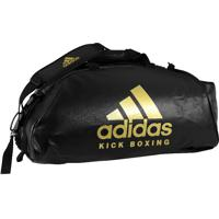 Bolsa Mochila Adidas Kickboxing 2In1 Pu Preto/Dourado-65L