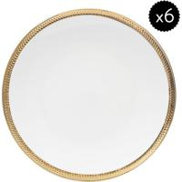 Jogo De Pratos De Jantar Paddy- Branco & Dourado- 6Pwolff