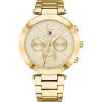 124ac028a8f Relógio Tommy Hilfiger Feminino Aço Dourado - 1781878