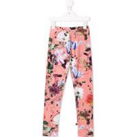 Molo Legging Com Estampa Floral - Rosa
