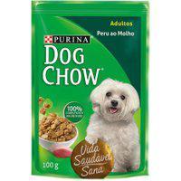 Ração Para Cães Dog Chow Adulto Sachê Sabor Peru Ao Molho 100G