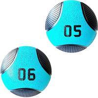 Kit 2 Medicine Ball Liveup Pro 5 E 6 Kg Bola De Peso Treino Funcional - Unissex