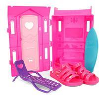 Sandália Infantil Grendene Barbie + Brinquedo - Feminino-Pink+Rosa