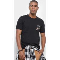 Camiseta Jab Estampa Milk Box Masculina - Masculino-Preto