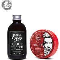 Kit Shampoo Qod Barber Shop Stout Beer 250Ml + Pomada Qod Barber Shop Killer 70G - Masculino-Incolor